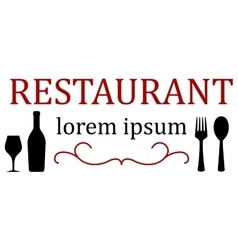 restaurant menu icon vector image
