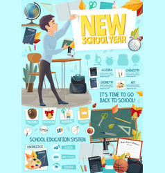 School or college education season poster vector