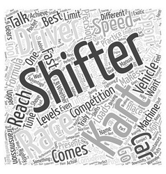 Shifter Kart Racing Why Its Cool Word Cloud vector
