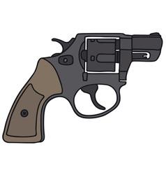 Short revolver vector image
