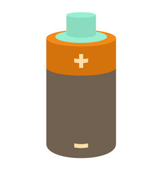 small battery icon cartoon style vector image
