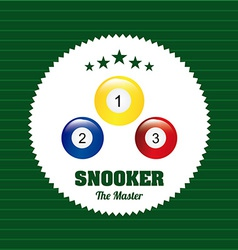 snooker design vector image