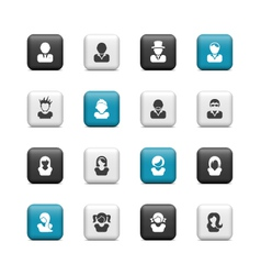 social media profile icons vector image