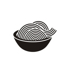 Spaghetti or noodle icon vector