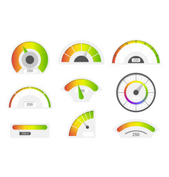 speedometer icons credit score indicators vector image