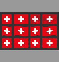 switzerland set official vector image