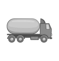 Tanker truck icon black monochrome style vector image