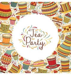 Tea Time Frame vector