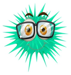 Thorny ball wearing glasses vector