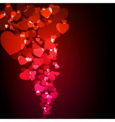 Valentine glowing background vector