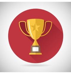 Victory prize award symbol trophy cup icon vector