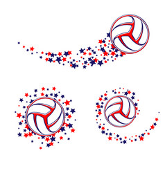 Volleyball star path vector