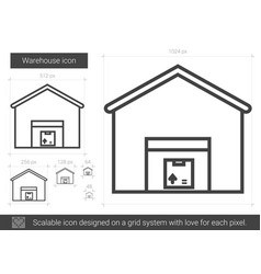 Warehouse line icon vector