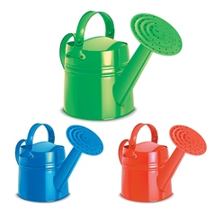 Watering cans set vector