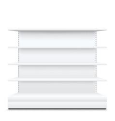 White shelves on vector