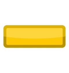 Yellow rectangle button icon cartoon style vector