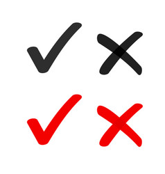 yes no check box list marker ticks icons vector image