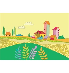 a small village vector image