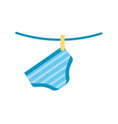 baby shower boy pants shorts hanging decoration vector image