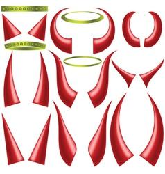 devils horns vector image vector image