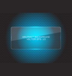 abstract blue glass banner circle mesh modern vector image