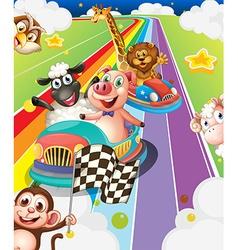 Animals racing vector image vector image