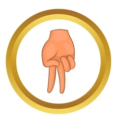 Baseball catcher gesture icon vector image