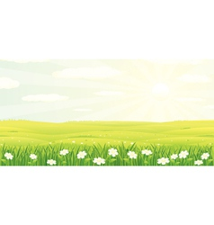 beauty landscape vector image vector image