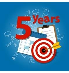five years target plan in business and life vector image
