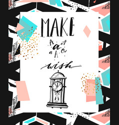 hand drawn abstract textured motivational vector image