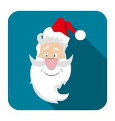 icon Santa flat style vector image vector image