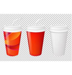 paper glasses set vector image vector image