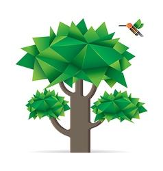 Tree with bird vector image vector image