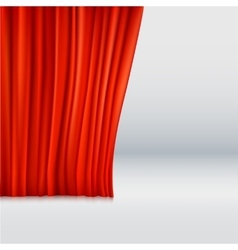 Background with curtain vector image vector image
