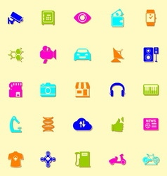 Hitechnology neon icons with shadow vector image