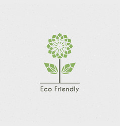 ecological logo vector image
