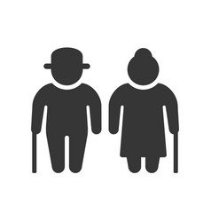 elder people icon on white background vector image