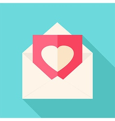 Envelope with love letter vector image