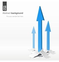 Growth arrows - success concept vector image