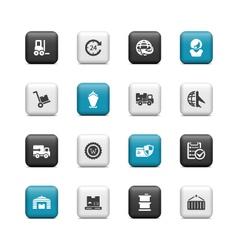 logistics transportation icons vector image