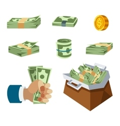 Money symbols icons vector image