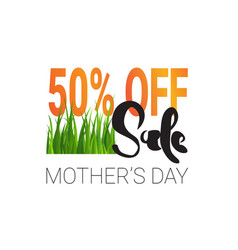 mothers day sale element creative holiday shopping vector image vector image