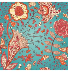 seamless floral pattern with abstract flowers and vector image vector image