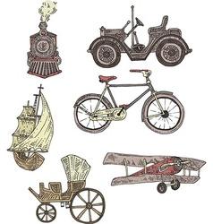 Vintage transportation vector