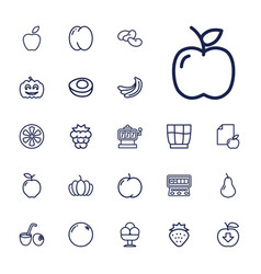 22 fruit icons vector