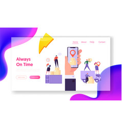 always on time concept website template vector image