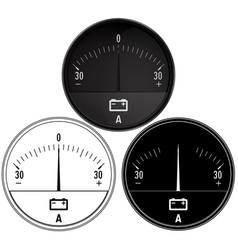 Ampermeter set auto accumulator charging vector
