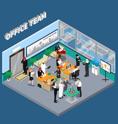 Arab persons in office isometric vector