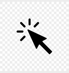 arrow pointer or click button icon vector image