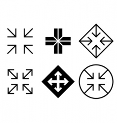 arrows and crosses set vector image